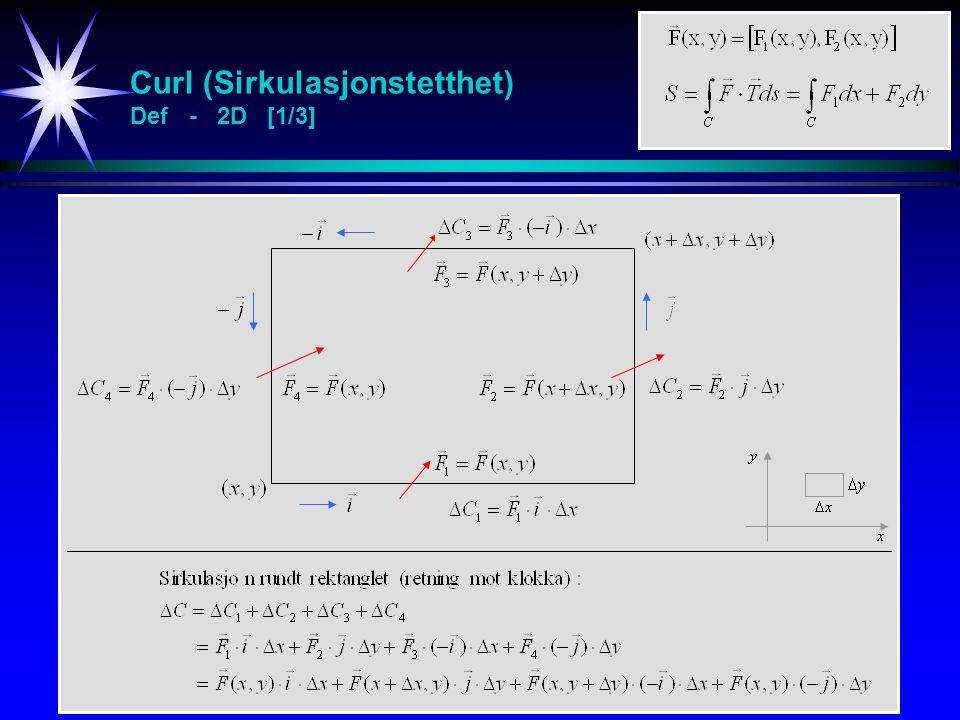 Curl (Sirkulasjonstetthet) Def - 2D [1/3]
